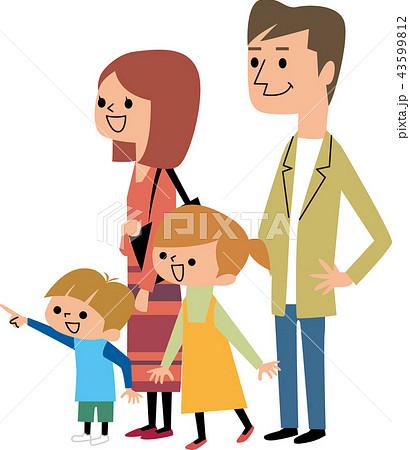 祖父母を待つ家族 43599812