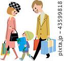 家族 買い物 プレゼントのイラスト 43599818