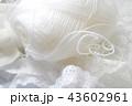 白い毛糸だま 43602961
