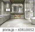 浴室 現代 装飾のイラスト 43610052