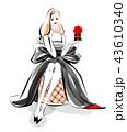 バレンタインの贈り物 黒ドレス 43610340