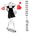 女性 モデル ドレスのイラスト 43610558