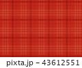 赤いチェックの布地 43612551