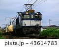 電気機関車が牽引する貨物列車 43614783