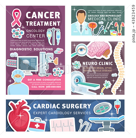 cancer urology and nephrology medical postersのイラスト素材