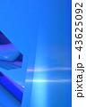 青い金属の透明 43625092