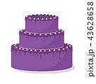 バースデー 誕生日 ケーキのイラスト 43628658