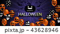Happy Halloween banner with scary balloon design 43628946