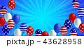 バックグラウンド アメリカ ポスターのイラスト 43628958