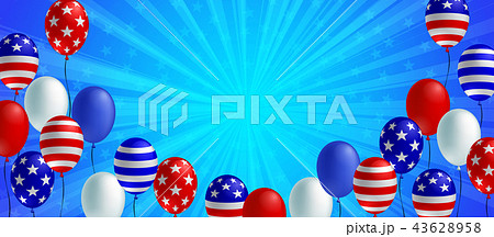 American flag balloon background poster banner 43628958