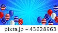 バックグラウンド アメリカ ポスターのイラスト 43628963