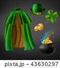 Vector set of saint Patricks day elements 43630297