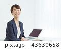 ビジネス ビジネスウーマン ノートパソコンの写真 43630658