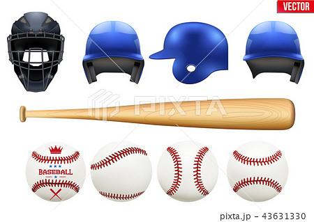 Big set of baseball equipment 43631330