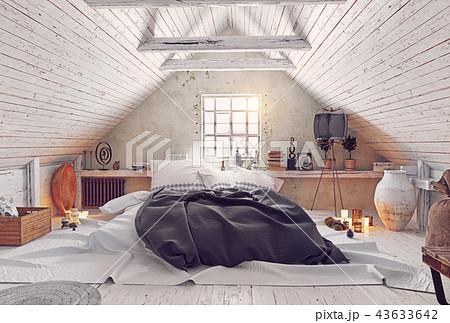 modern attic bedroom design. 43633642