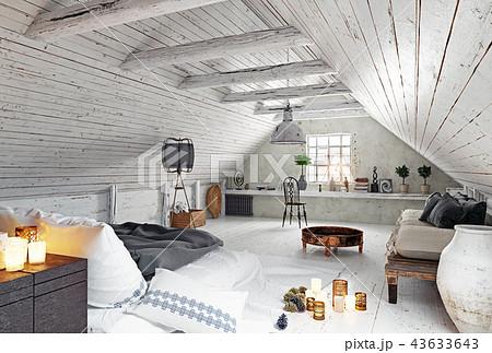 modern attic bedroom design. 43633643