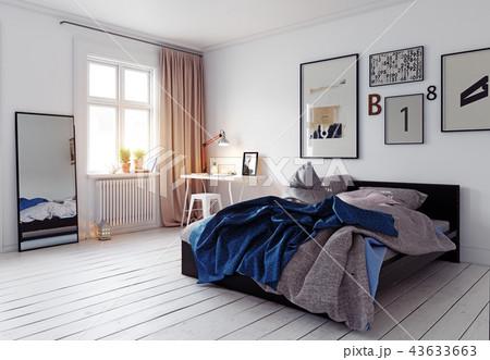 modern bedroom interior 43633663