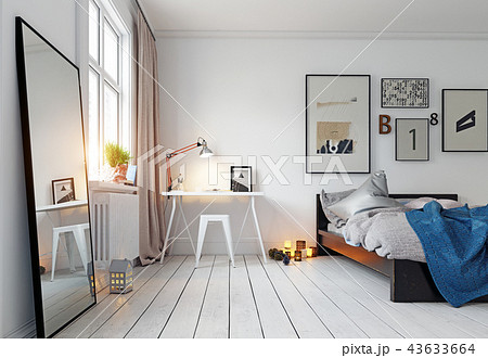 modern bedroom interior 43633664