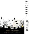 ハロウィン 背景 墓地のイラスト 43636248