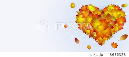 golden autumn leaves 43636328