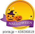 Halloween ハロウィン フレームのイラスト 43636819