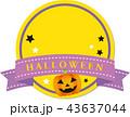Halloween ハロウィン フレームのイラスト 43637044