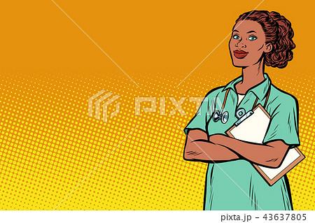 African nurse. Medicine and health 43637805