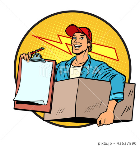 courier. Delivery of parcels and mail. Postman. 43637890