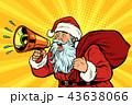 pop art Santa Claus with megaphone 43638066