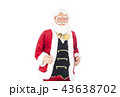 語りかけるサンタクロース クリスマスイメージ イメージ素材 43638702