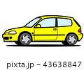 ベクター ハッチバック 自動車のイラスト 43638847