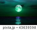 full sturgeon moon silhouette wooden pillar on sky 43639398