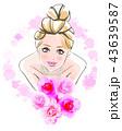 花嫁のイメージ シンプル背景 43639587