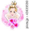 花嫁のイメージ ピンク背景 43639590