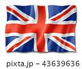 British flag isolated on white 43639636