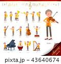 女性 シニア 楽器のイラスト 43640674
