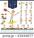 女性 シニア 料理のイラスト 43640677