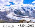 スイスのゴルナーグラート展望台から望むゴルナー氷河 43641293