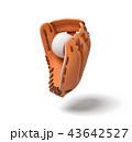 スポーツ ベースボール 白球のイラスト 43642527