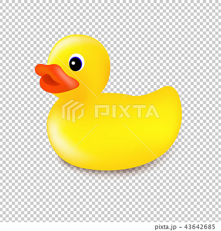 Rubber Duck Isolated Transparent Background 43642685