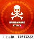 Ransomware virus, emblem of Malware attack. Skull 43643282