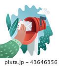 メールボックス レター 文字のイラスト 43646356