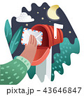 メールボックス 郵便 レターのイラスト 43646847