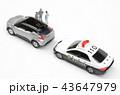 自動車 パトカー 交通取り締まりの写真 43647979