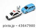 自動車 パトカー 交通取り締まりの写真 43647980