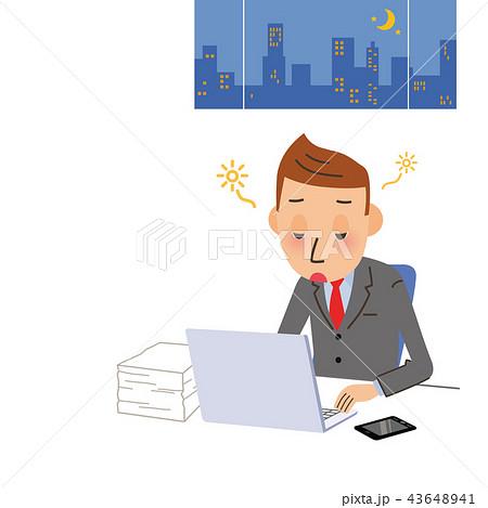 居眠りをする男性会社員 43648941