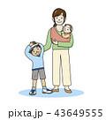 子育て 育児 親子のイラスト 43649555