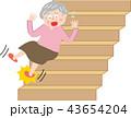 シニア 女性 ケガ 階段 すべる 43654204