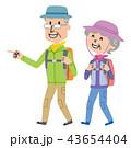 老夫婦 ハイキング 山登りのイラスト 43654404