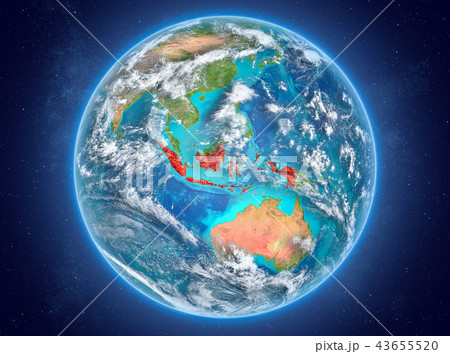 Indonesia on planet Earth in space 43655520